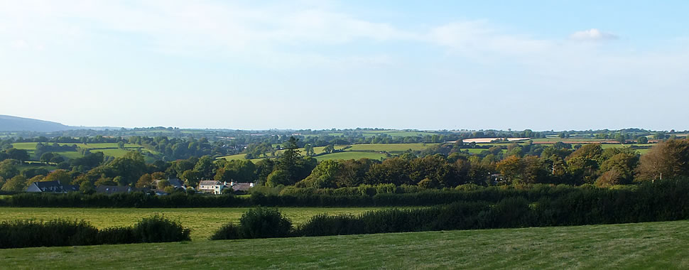 Views over the parish of South Hill