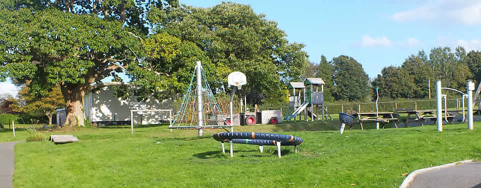 The play area by the recreation field in South Hill